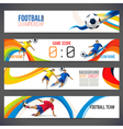 Soccer player with colored geometric shapes vector image