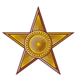 star - medal vector image vector image