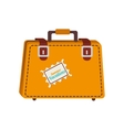 suitcase travel bag icon graphic vector image