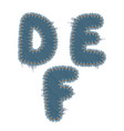torn denim letters vector image vector image