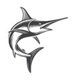 vintage ocean swordfish concept vector image vector image