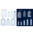 water bottle mockups plastic drink containers vector image vector image
