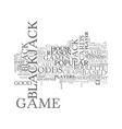 why are the black jack odds so good text word vector image vector image