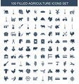 100 agriculture icons vector image vector image