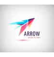 abstract arrow logo icon isolated vector image vector image