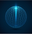 Abstract blue outline globe sphere background vector image vector image