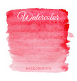 abstract watercolor red hand drawn background vector image vector image