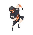 american football player running with ball male vector image