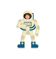 astronaut winks emoji spaceman thumbs up happy vector image