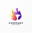 awesome gradient phoenix logo design vector image vector image