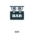 bar icon line style icon design ui vector image vector image