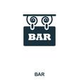 bar icon line style icon design ui vector image