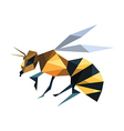 bee origami vector image vector image