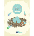 Bird Nest Design vector image