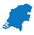 blue similar netherlands map blank template for y vector image vector image
