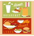 breakfast and lunch menu vector image