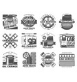 car service spare parts auto tuning and motor oil vector image vector image