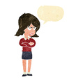 cartoon angry woman with speech bubble vector image