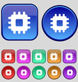 Central Processing Unit icon sign A set of twelve vector image