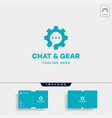 chat gear logo message communication symbol icon vector image