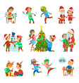christmas holiday people activities set vector image vector image