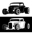 classic american hot rod vector image