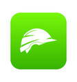 construction helmet icon digital green vector image vector image