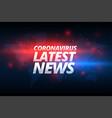 covid19-19 coronavirus latest news banner concept vector image