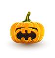 crying halloween pumpkin vector image