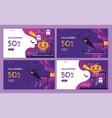 discount purple halloween night event with pumpkin vector image vector image
