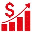 Financial Growing Bar Chart Trend Grainy Texture vector image