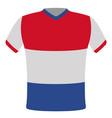flag t-shirt of netherlands vector image