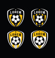 football logo badges set vector image