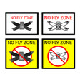 four signs for the flight of quadrocopters drones vector image