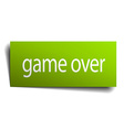 game over green paper sign isolated on white vector image vector image