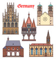 germany landmark buildings and cathedrals travel vector image vector image