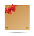 gift card with golden swirl frame vector image vector image