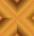 Gold Background With Stripes and Dotted vector image
