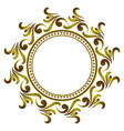 golden round frame vector image vector image