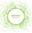 Green Abstract Circle Frame Design Element vector image vector image