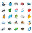 hangar icons set isometric style vector image vector image