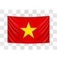 hanging flag vietnam socialist republic of vector image vector image