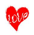 heart grunge style symbol of love brush texture vector image