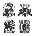 hunting sport t-shirt prints vector image vector image