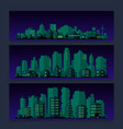 industrial trendy city skyline colored sets vector image