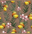 Jungle seamless pattern with tropical plant