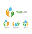 lab and people logo combination Bottle and vector image vector image