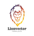 lion shield logo design template lion head logo vector image vector image