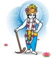 Lord Shri Balaram with plow vector image vector image