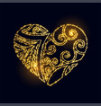 luxury creative golden heart made with sparkles vector image